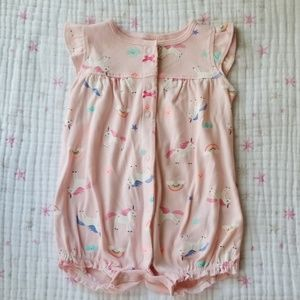 Carter's unicorn romper